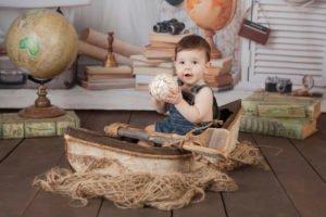 צילום תינוקות עם אביזר סירה