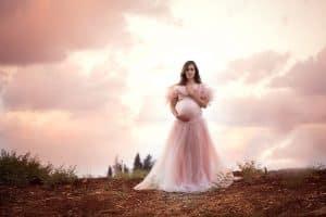 צילומי הריון בשקיעה