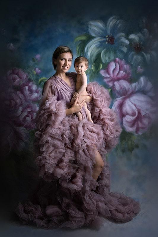 צילומי אמא ואני עם שמלות מעוצבות